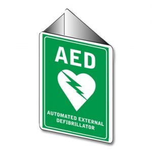 AED Agle Bracket Wall Sign